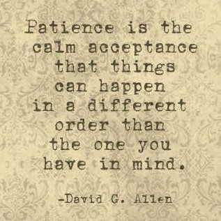Patience-agility