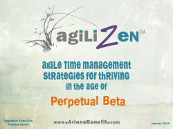 Agile Time Management by Ariane Benefit, Life Coach, ADHD Coach, Gifted Adults, Creative Personality