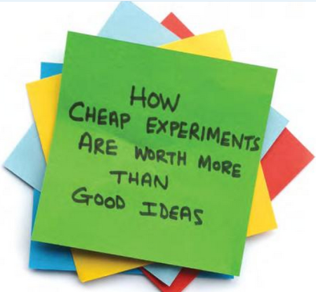 Innovator's hypothesis cheap-experiments-ideas