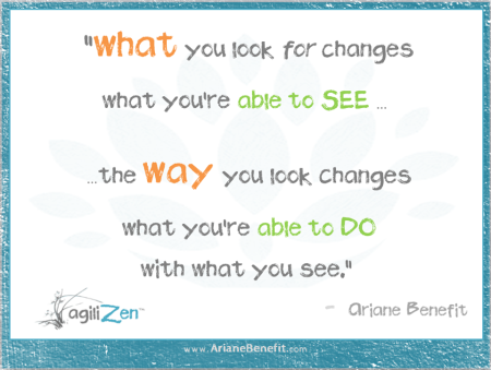 questions change what you are looking for